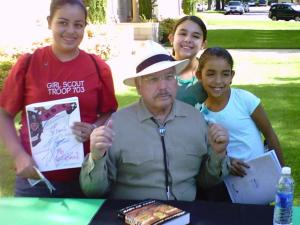 Victor Villaseñor and Girl Scouts