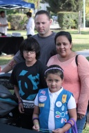 Girl Scout Angela with her family.