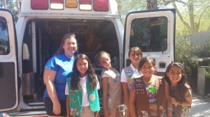 Girl Scouts tour hospital