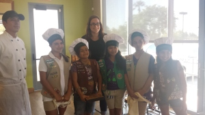 Girl Scouts at California Pizza Kitchen