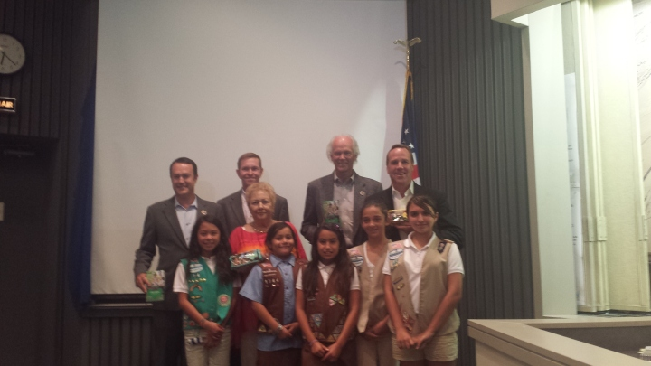 Girl Scouts visit City Council Members in Palm Springs.