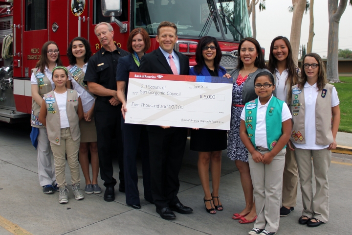 Bank of America grant Girl Scouts