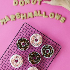 Donut Marshmallows for S'mores