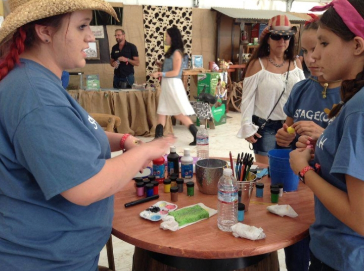 GS facepainting station - half pint