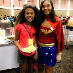 Even the convention staff love Wonder Woman!
